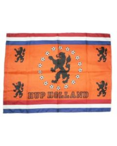 Vlag hup holland + leeuwen