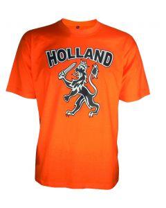 Oranje shirt met Holland/leeuw