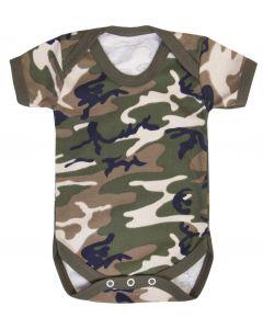 T-shirtsz romper korte mouw camouflage