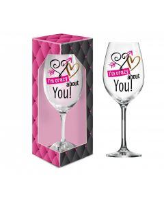 XXL wijn glas I'm crazy about you