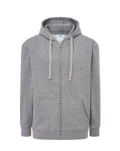 Hooded jacket grey melange