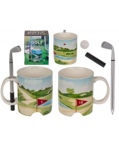 Golfmok met golfclubpen